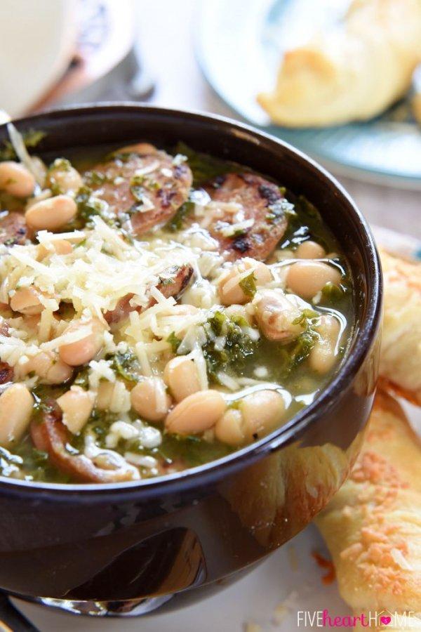 White Bean, Kale and Sausage Soup