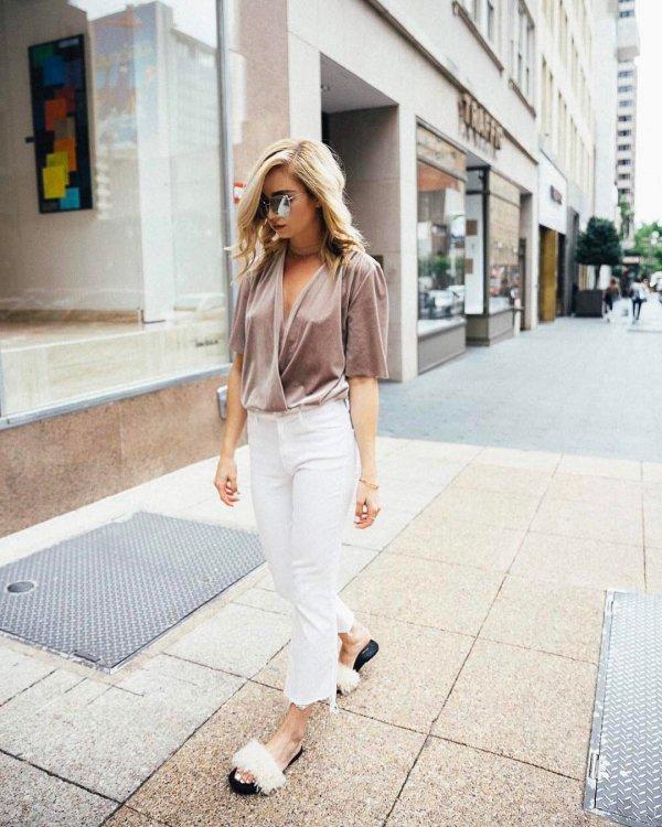 white, clothing, jeans, pink, shoulder,
