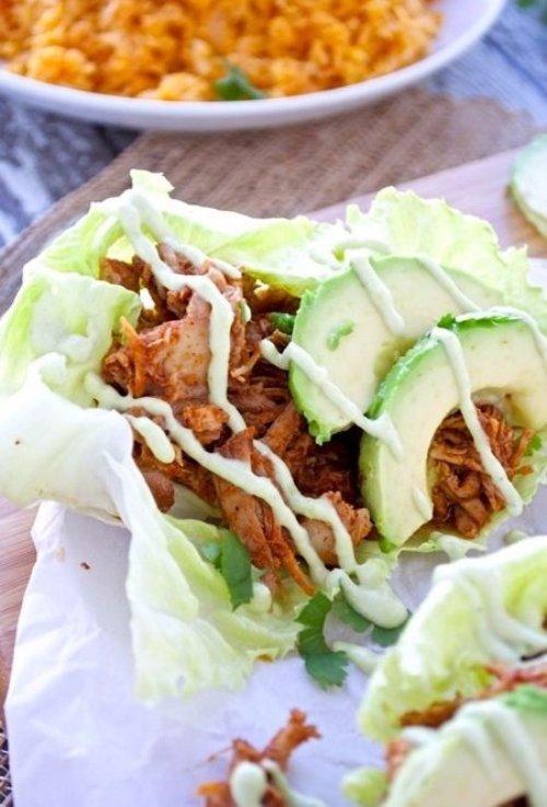 Chipotle Pulled Pork Lettuce Wraps
