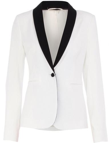 Dorothy Perkins White Contrast Tux Jacket