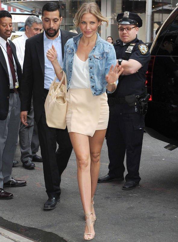 Cameron's Cropped Jacket + Short Skirt