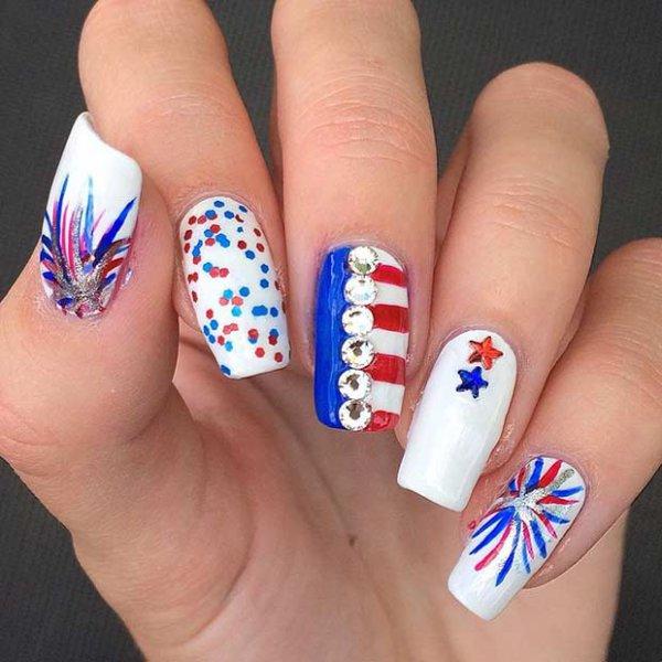 nail, finger, color, blue, nail care,