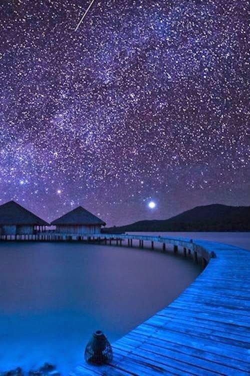 sky, nature, water, atmosphere, night,