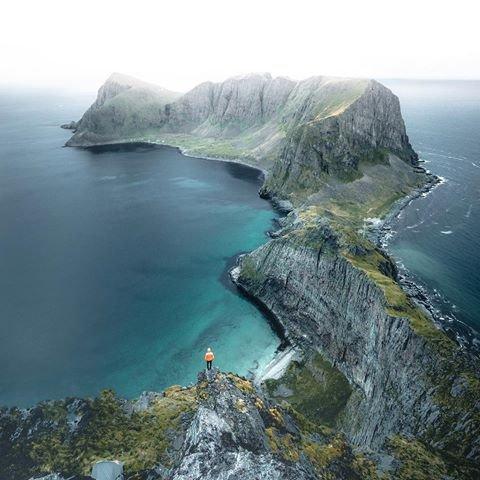 coast, coastal and oceanic landforms, cliff, headland, aerial photography,