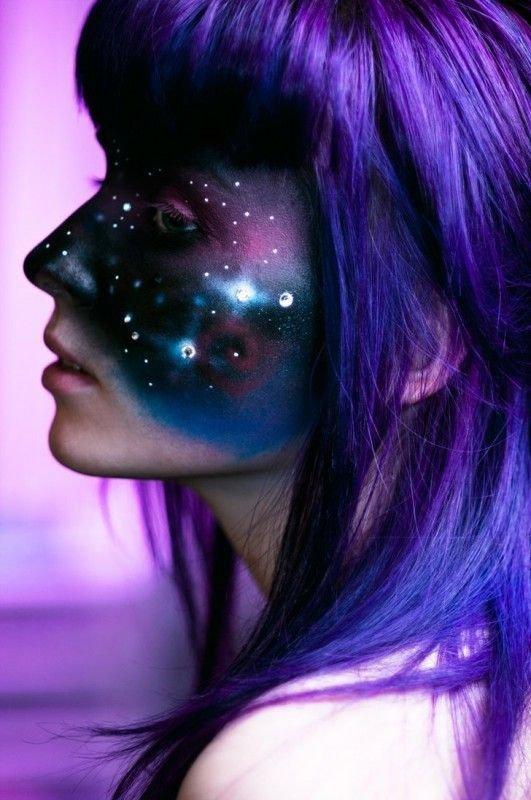 hair,color,purple,face,blue,