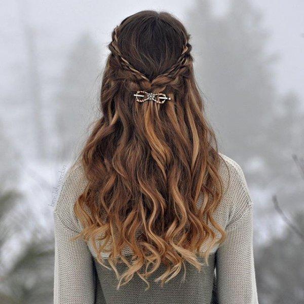 clothing, hair, hairstyle, brown, long hair,