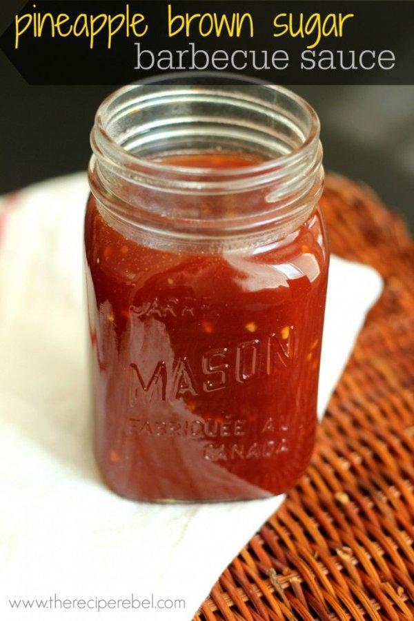 Pineapple Brown Sugar BBQ Sauce