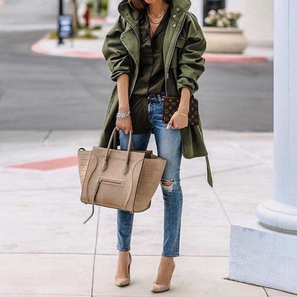 clothing, footwear, leather, spring, denim,