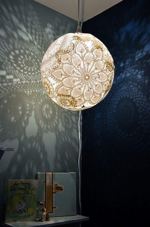 Create a Doily Lamp