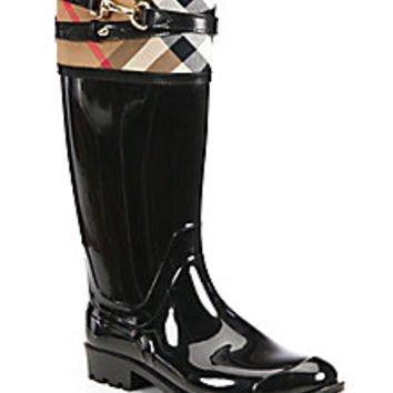 Burberry - Elderford Check Rain Boots