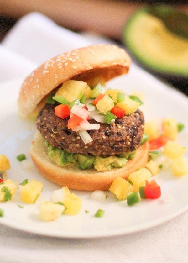 food, dish, produce, hamburger, veggie burger,