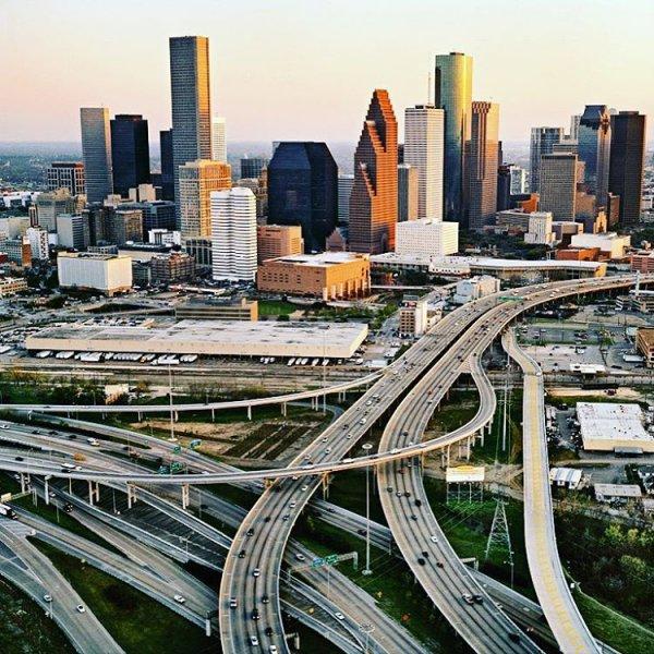 metropolitan area, skyline, transport, overpass, city,