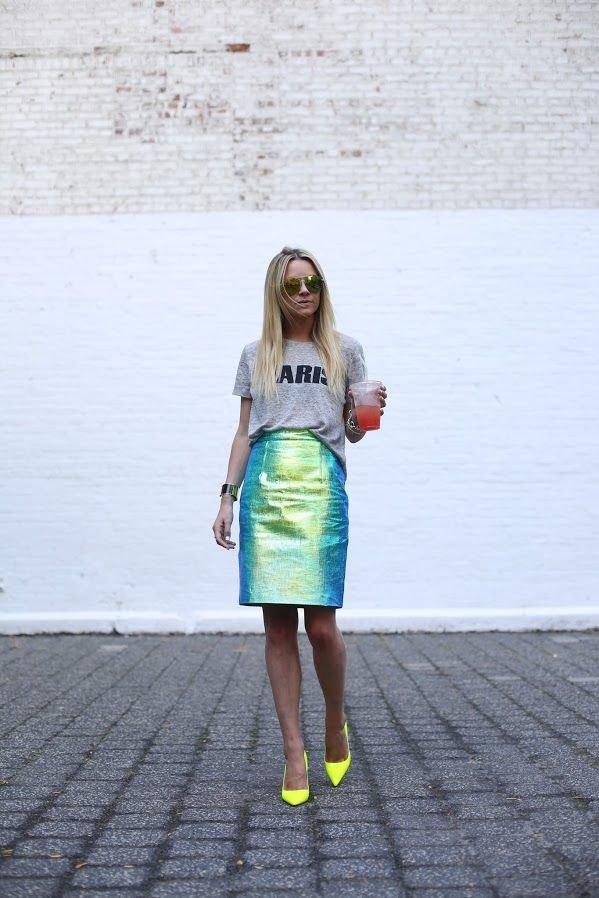 Dual Tone Skirt