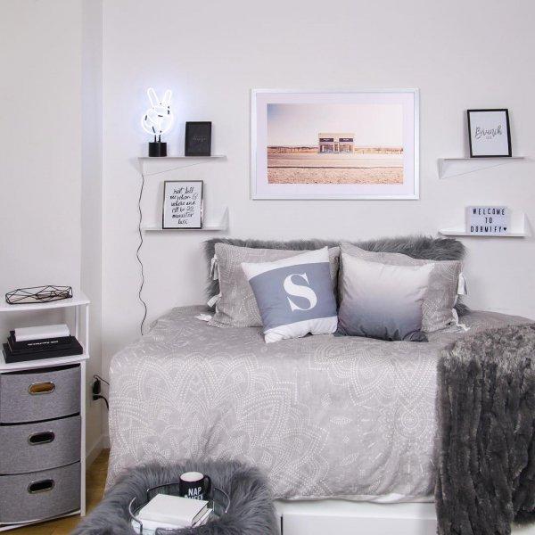bed frame, room, furniture, bedroom, wall,