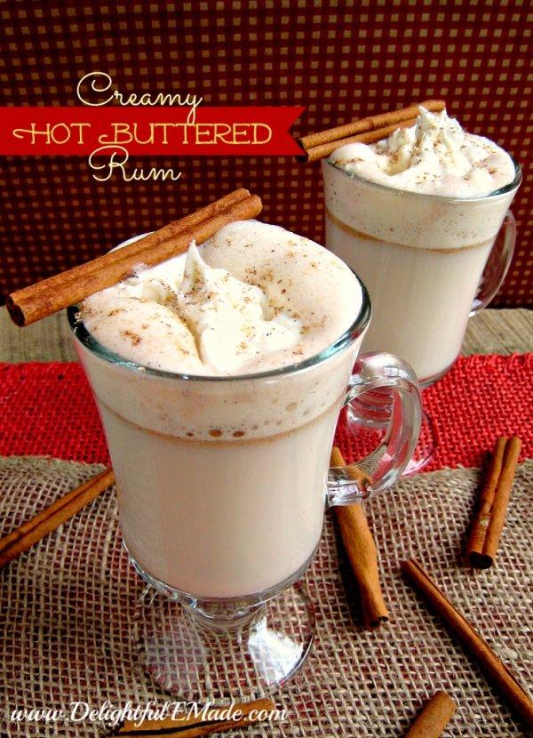Creamy Hot Buttered Rum