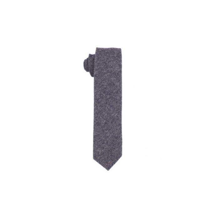Fred Perry Men's Herringbone Tie, Navy