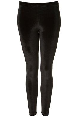 Topshop Velvet Black Leggings
