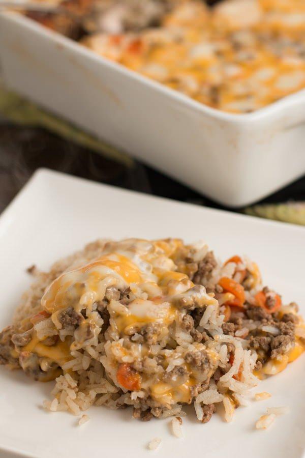 Cheesy Ground Beef Casserole