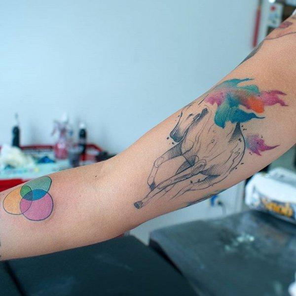 color, tattoo, blue, arm, leg,