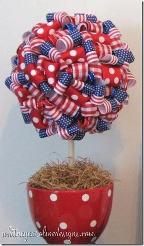Patriotic Ribbon Topiary