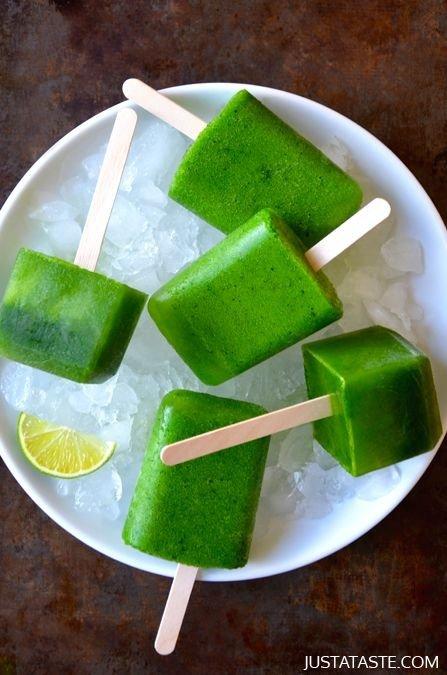 Green Juice Popsicles