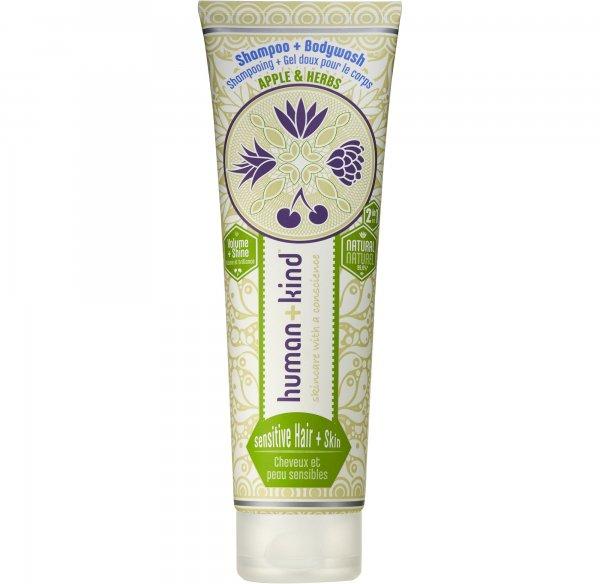 Human + Kind: Apple & Herbs Shampoo + Body Wash - Sensitive