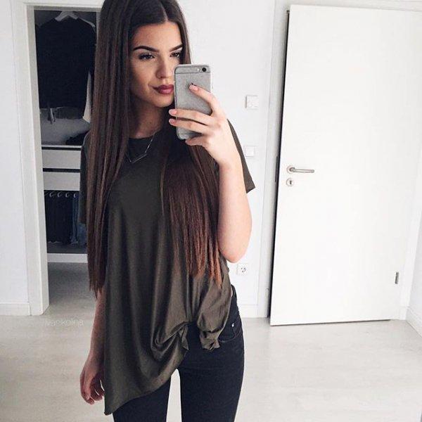black, clothing, sleeve, dress, hairstyle,