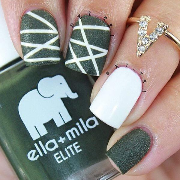 nail, finger, green, nail care, hand,