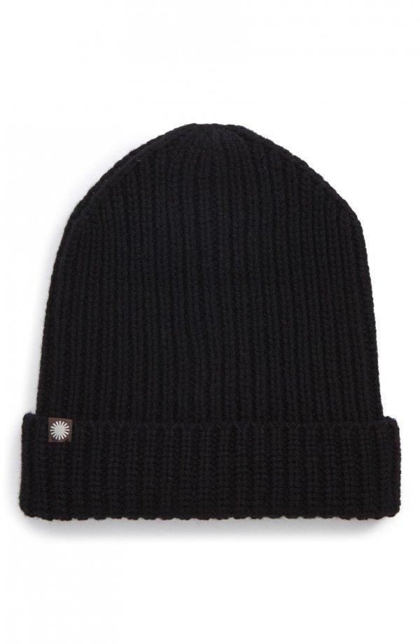 black, headgear, cap, woolen, beanie,