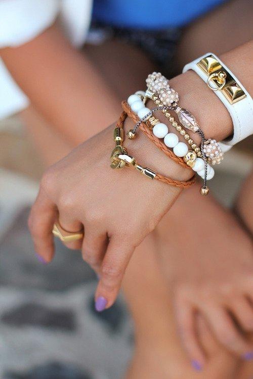 Eccentric Mix of Bracelets