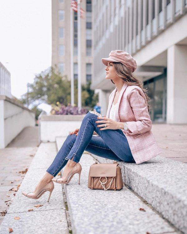 clothing, jeans, denim, sitting, shoulder,