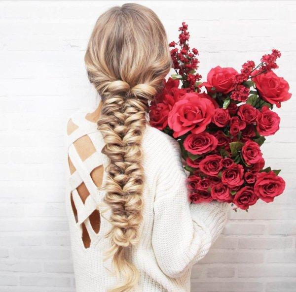 hair,hairstyle,flower,long hair,