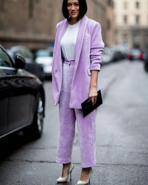 pink, purple, blazer, suit, fashion,