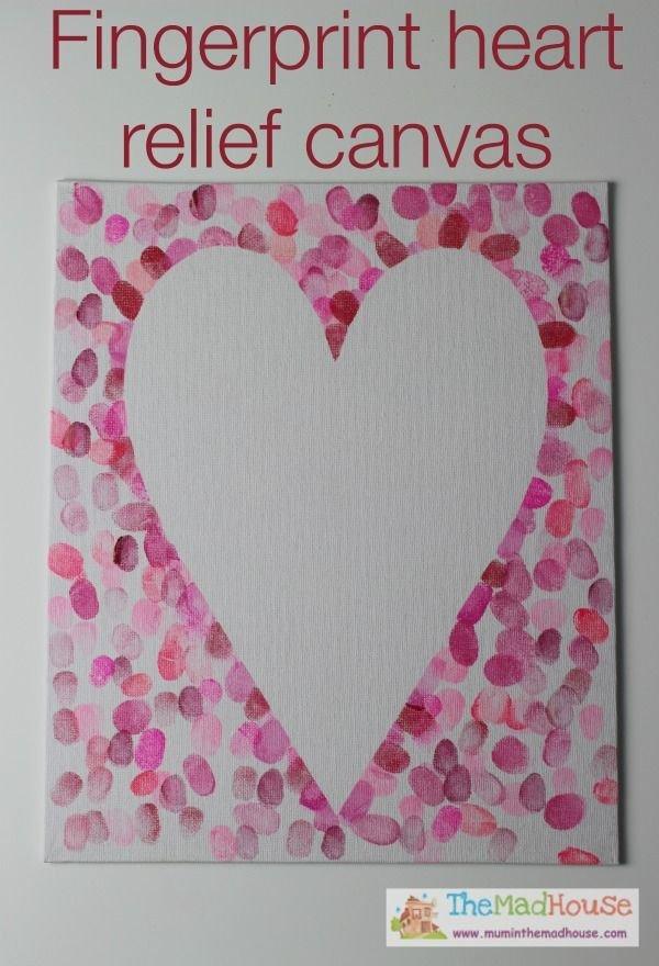 Family Fingerprint Relief Heart