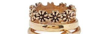 FOREVER 21 Faux Stone Midi Ring Set
