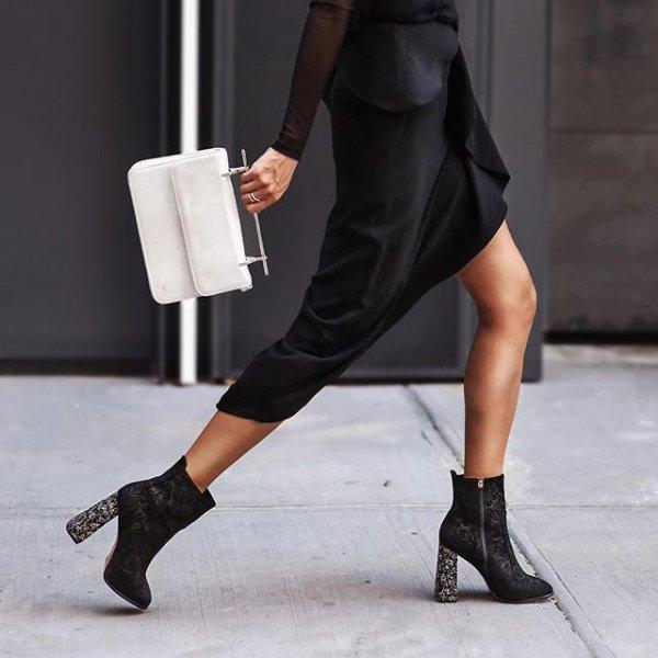 footwear, black, clothing, high heeled footwear, leg,