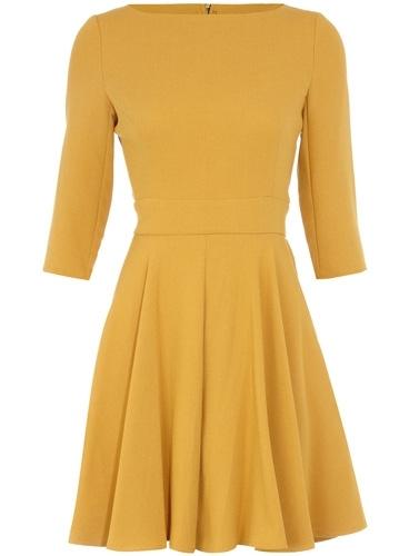 Dorothy Perkins Mustard Crepe Dress