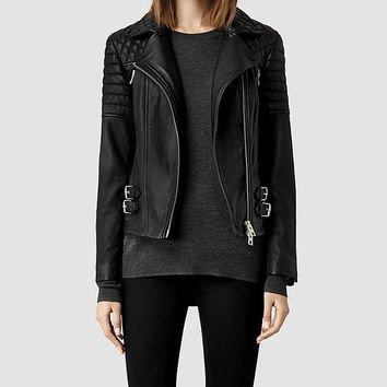 Hemming Leather Biker Jacket