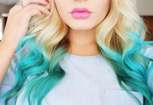 Her Dip-dyed Mermaid Hair