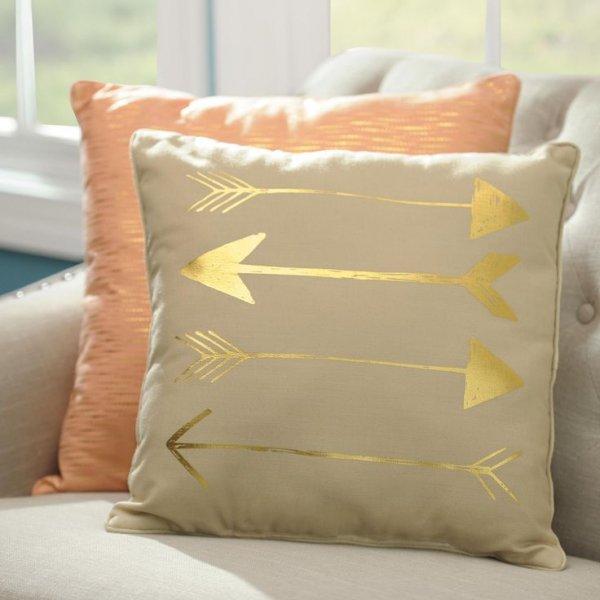Metallic Arrow Pillow
