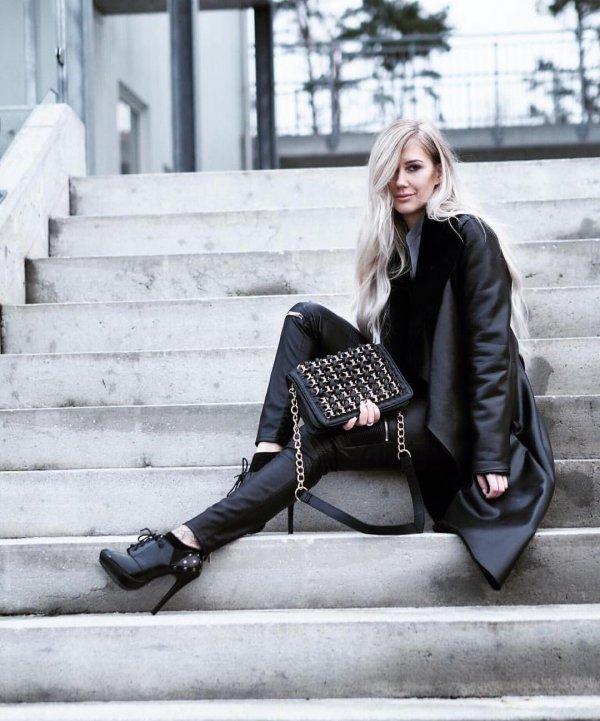 black, clothing, footwear, human positions, lady,