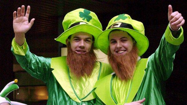 Green, Fun, Saint patrick's day, Event, Facial hair,