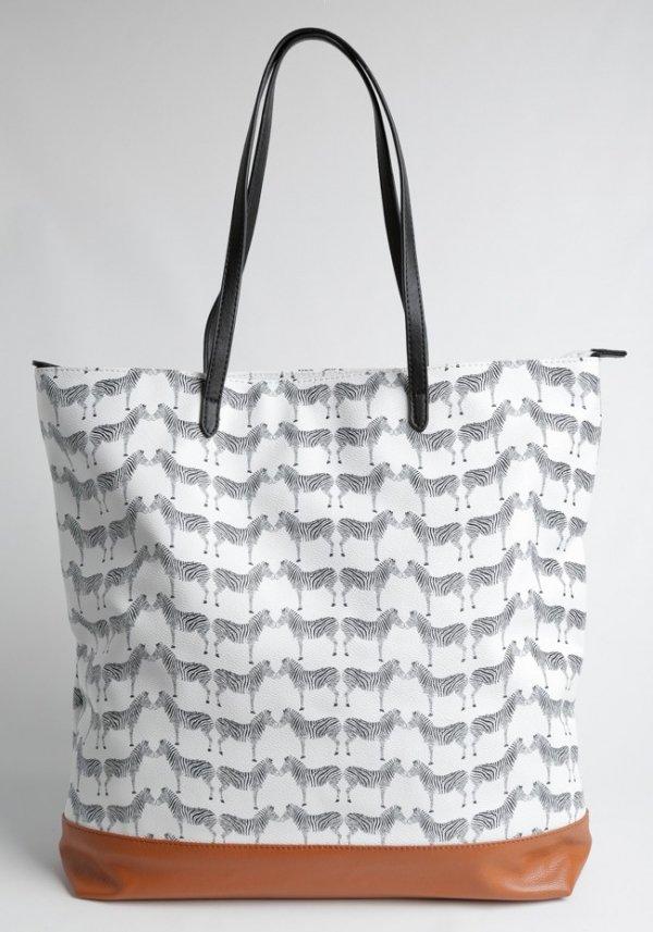 Zebra-print Tote