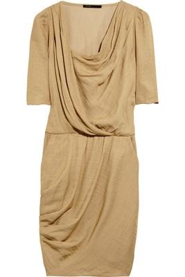 Maje Avoine Draped Wrap-Effect Dress