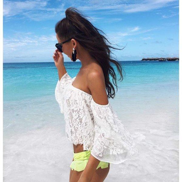 clothing, swimwear, dress, photo shoot, long hair,