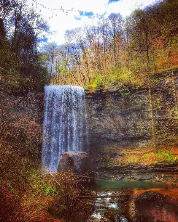 waterfall, water, nature, body of water, nature reserve,