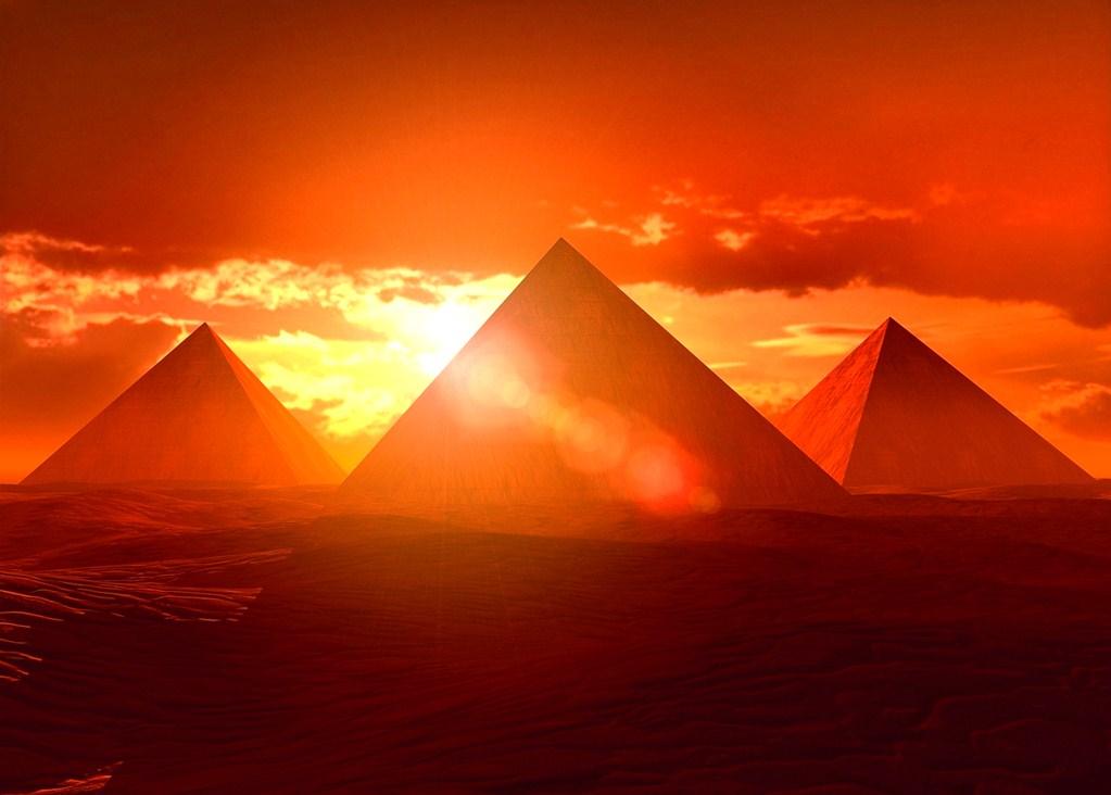 Sunrise over the Pyramids