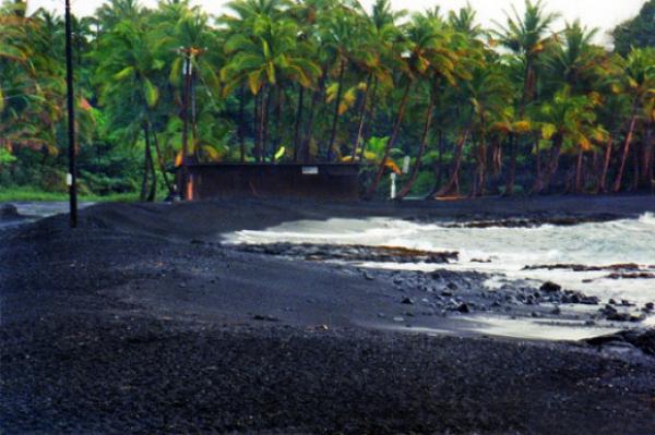 Punaluu Black Sand Beach Island