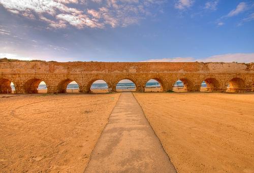 Caesarea Aqueduct Beach, Israel