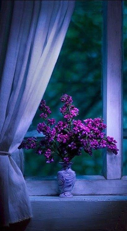 Dramatic Purple Flower Arrangement